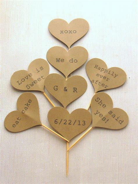 Wedding Cupcake Picks. 24 Count Double Silver Heart Love