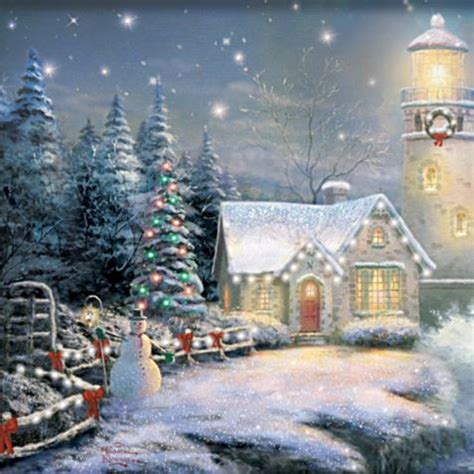 kinkade light your way home lighthouse
