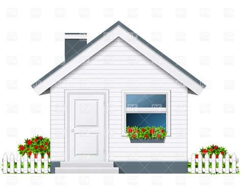 porch clipart small country house with porch and flue royalty free