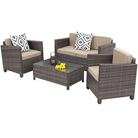 outdoor patio furniture setwisteria lane  piece rattan