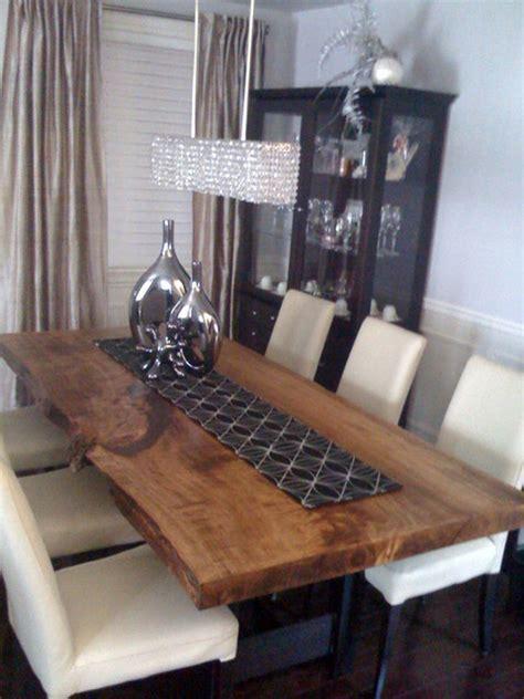 dining reclaimed wood slab dining table dining room set reclaimed poplar live edge slab dining table