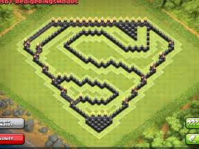 Farming base superman design 4th mortar clash of clans youtube