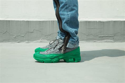 adidas by raf simons ozweego pack on foot look hypebeast