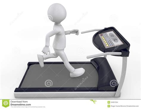 how to a to run on a treadmill running on a treadmill stock images image 34301354