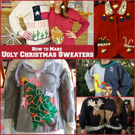 how to make ugly christmas sweaters allfreeholidaycrafts com