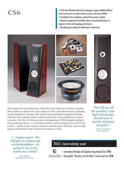 for cs6 free pdf for thiel cs6 speaker manual