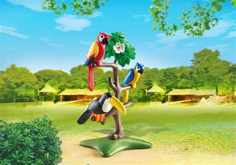 Sets For The Tree - playmobil set 6653 parrots and toucans in the tree