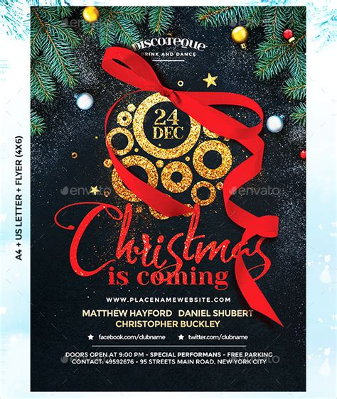 flyer design unique 25 christmas flyer templates free premium download