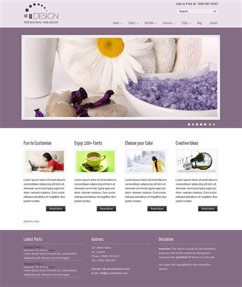 exploit themes u design u design wordpress theme layout beispiel 1 blogging inside