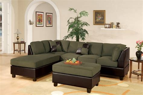 sectional sofa reversible chaise microfiber ottoman