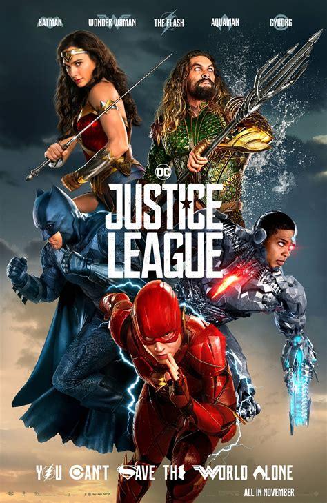 quando esce il film justice league justice league i supereroi schierati in un poster e in un