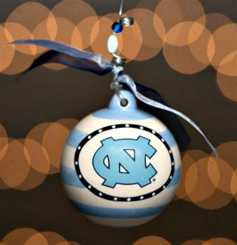 unc stripe ornament