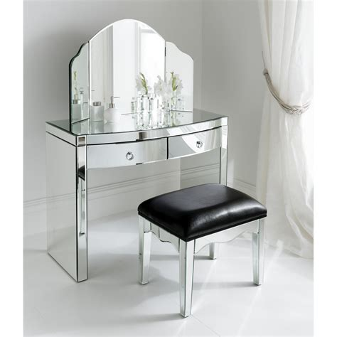 mirrored end table set florence mirrored dressing table set