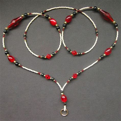 how to make a beaded lanyard beaded handmade id lanyard pattern free patterns