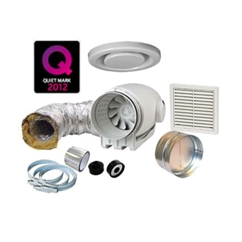 Td Silent 250 Bathroom Extractor Fan Kit Extractor Fan Kits