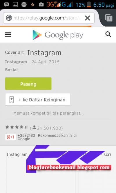 membuat akun instagram melalui android cara daftar membuat akun instagram android