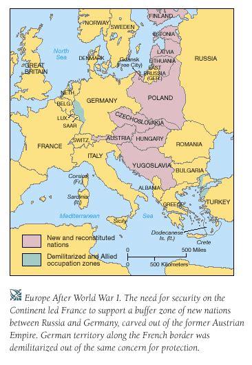 Europe Map After Ww1 by First World War
