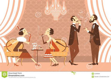 vintage cocktail party illustration vector vintage party cartoon vector cartoondealer com