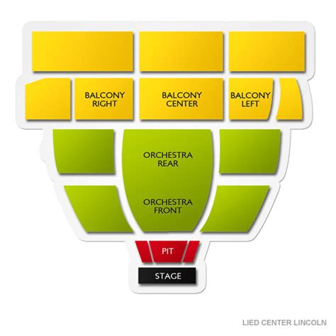 lincoln lied center lied center lincoln seating chart seats