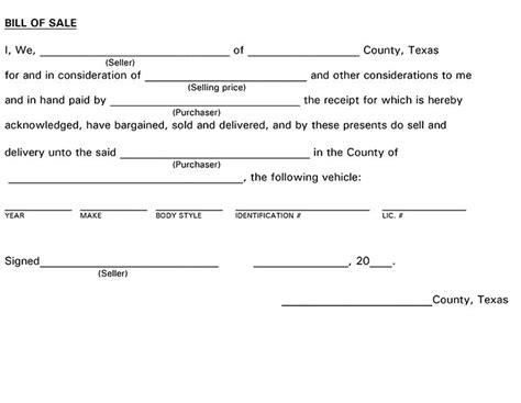 free texas boat bill of sale form pdf word doc texas bill of sale form