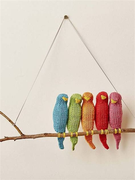 knitting pattern wall hanging flock wall hanging the knitted nursery collection by je