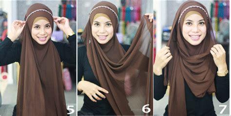 tutorial hijab zaskia adya mecca headband tutorial hijab with headband headband hijab tutorial