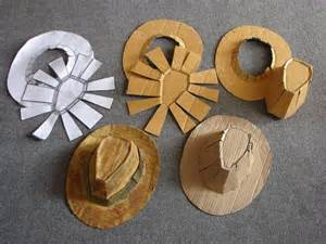 paper cowboy hat template how to make a fedora indiana jones