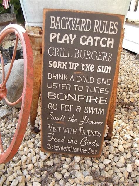Backyard Hilarious 25 Best Ideas About Backyard Signs On Vinyl