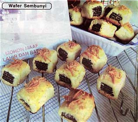 cara membuat kue kering wafer wafer sembunyi