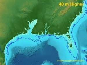map of us after sea level rise sea level rise on the us gulf coast