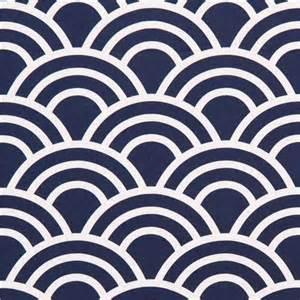 Navy blue wave pattern cotton sateen fabric michael miller fabric