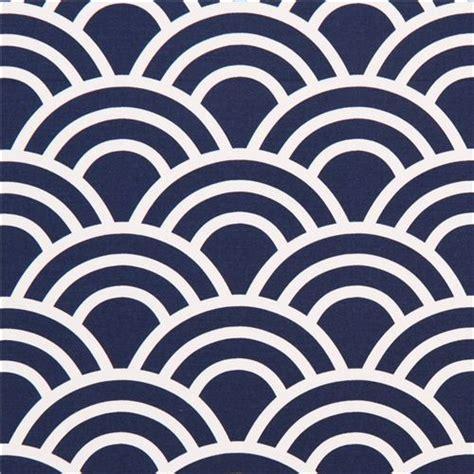 pattern navy blue navy blue wave pattern cotton sateen fabric michael miller