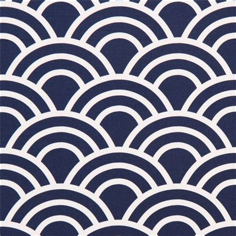 Navy blue wave pattern cotton sateen fabric michael miller fabric by modes group ltd