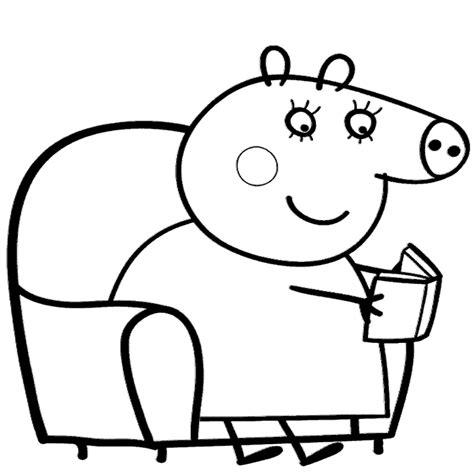 peppa pig para colorear pintar e imprimir dibujo de peppa pig para imprimir y colorear
