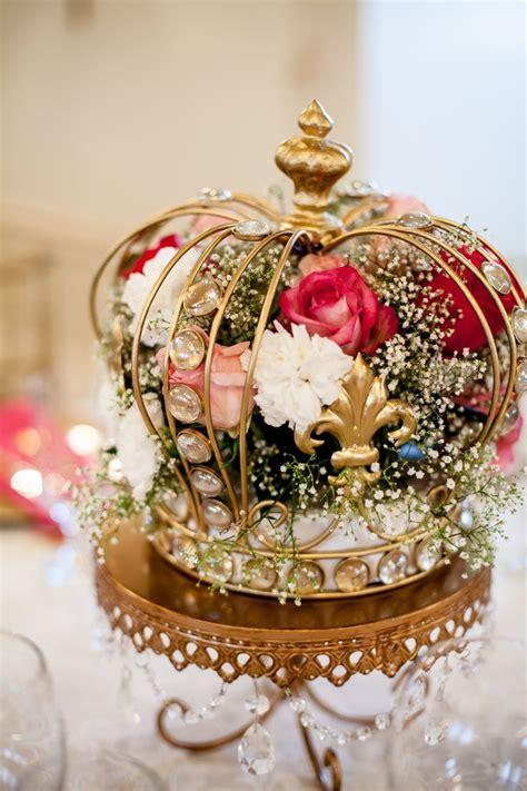 decorative crown centerpieces  blinged