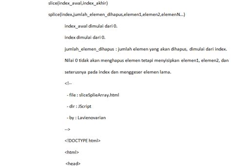 membuat array json membuat slice splice array pada javascript webhozz blog