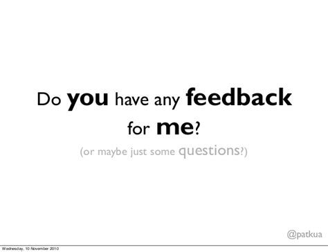 Do You Any Questions For Me Mba by Do You Any Feedback