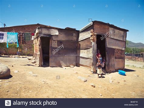 Tin House by Tin House In Xhosa Township Graaff Reinet South Africa Stock Photo Royalty Free Image