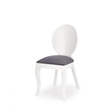 Chaise Medaillon Blanche chaise m 233 daillon moderne blanche et gris vilta so inside