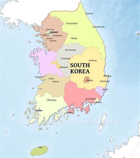 where is south korea on the map south korea maps