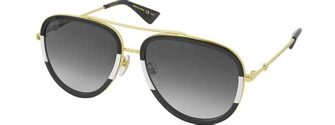 Tb Aviator Panca Black List Gold gucci gg0062s 006 black white acetate and gold metal aviator s sunglasses modesens