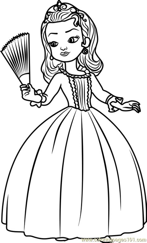 sofia coloring pages pdf princess amber coloring page free sofia the first