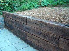 Reclaimed Railway Sleepers Kent by Steel Retaining Wall It Landscape And Garden