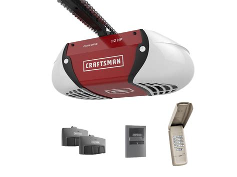 craftsmen garage door opener craftsman 189 hp chain drive garage door opener with two