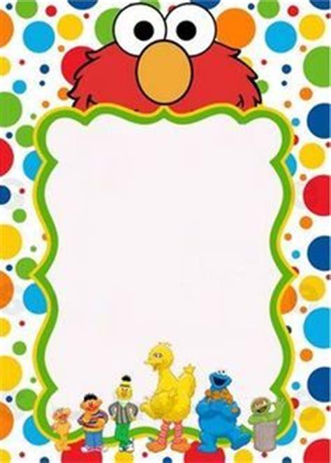 elmo birthday birthday card templates blank blank sesame invitation ideas
