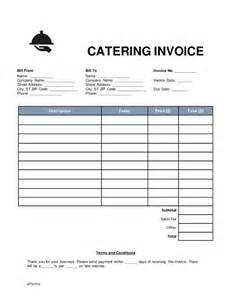 catering invoice template excel free catering invoice word pdf eforms free