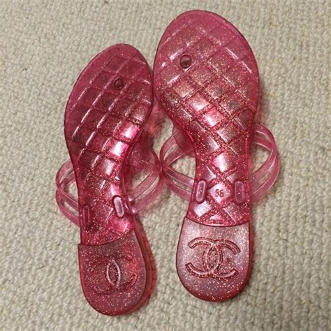Speedy Jelly Flower 63 chanel shoes pink chanel jelly flower sandals