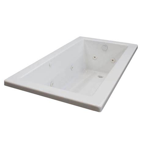 american standard whirlpool bathtubs american standard cadet 6 ft x 42 in everclean whirlpool tub in white 2774 018w 020