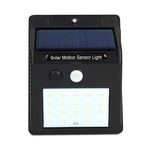 led outdoor wall lights with motion sensor led solar power pir motion sensor wall light 20 led