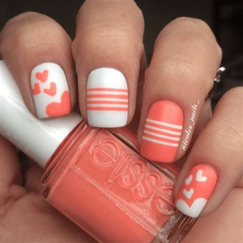 imagenes de uñas acrilicas color salmon diy nageldesign ideen zum valentinstag s 252 223 e ideen zum